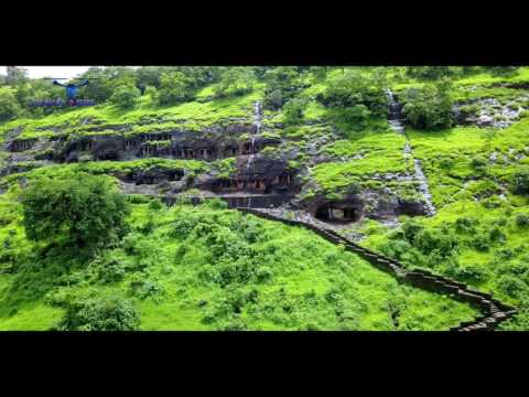Aerial View of Gandherpale Caves MAHAD ll Aerial Drone Shot ll