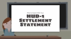 Your HUD-1 Settlement Statement