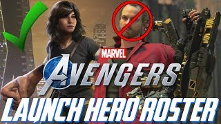 Marvel's Avengers: LAUNCH Hero Roster Size REVEALED!!! Core Team TOO SMALL?!?