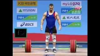 2009 World Weightlifting 85 Kg Clean and Jerk.avi