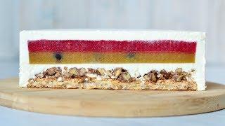 Муссовый ТОРТ Манго ☆ Маракуйя ☆ Грецкий орех ☆ Mango passion fruit mousse cake
