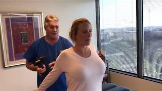 Houston Chiropractor Dr Gregory Johnson Adjust Houstonian Women Lower Back Pain