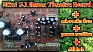5 1 home theatre audio board connection /all in 1 ka2206/2030 5.1 ful board review