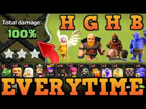 War Winning Attack Strategy | TH9 HGHB Attack Strategy [3 STAR EVERY TIME]