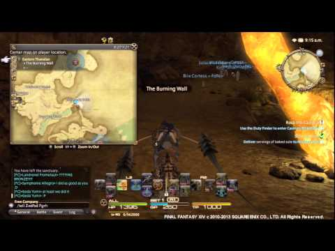 Final Fantasy XIV A Realm Reborn - Gold Ore & Darksteel Ore Mining Spots and Time