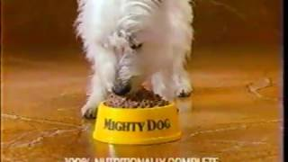 Ordinary Dog vs Mighty Dog -  Pet Food Commercial (1989)