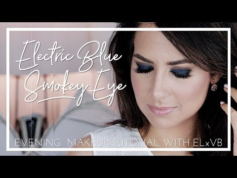 ELECTRIC BLUE SMOKEY EYE | Makeup Tutorial | JASMINA BHARWANI