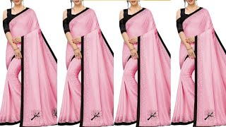 Beautifull Saree Collection Plane and All Type Saree Collection With Amazon Designer || Online Saree