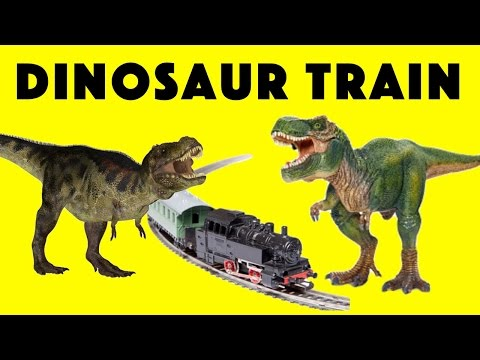 Dinosaur Train Videos for Kids with Dinosaur Toys and Model Train Village by Toypals.tv