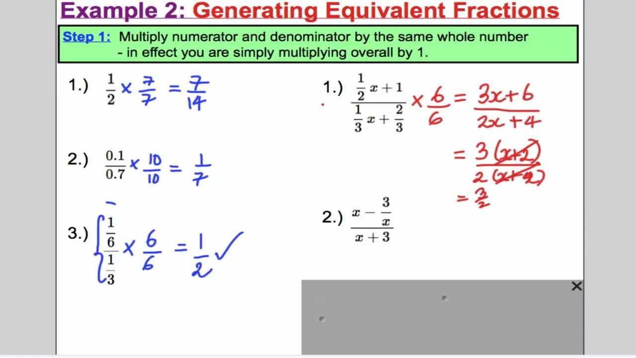 Algebraic Fractions - Cancelling (L1) Core 3 Edexcel A-Level - YouTube
