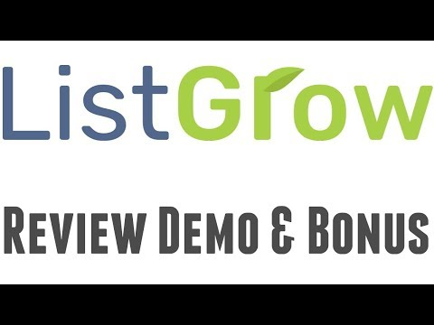 ListGrow Review Demo Bonus – Done For You List Building Funnels + Traffic Software