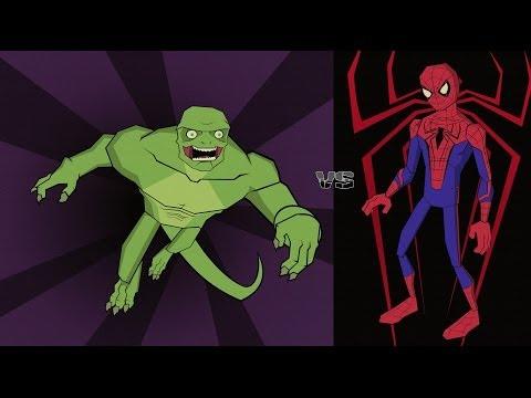 Новый Человек - паук Человек - паук VS Ящер.