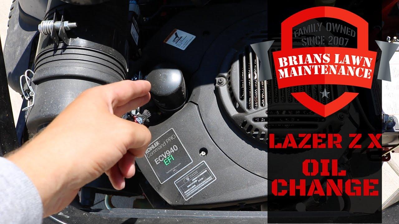 Exmark Lazer Z X - Oil Change