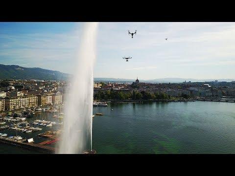 Le jet d'eau et la rade de Genève, par les membres d'Airshoot Suisse