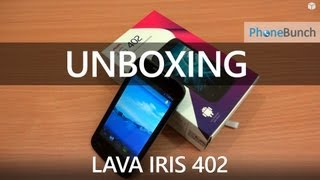 LAVA Iris 402 Unboxing - Cheapest Dual-core 4-inch, Android Jelly Bean Smartphone