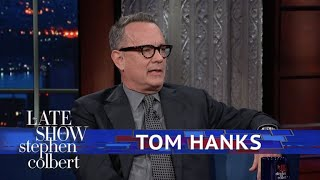 Tom Hanks And Stephen Argue Christmas Tree Technique by : The Late Show with Stephen Colbert