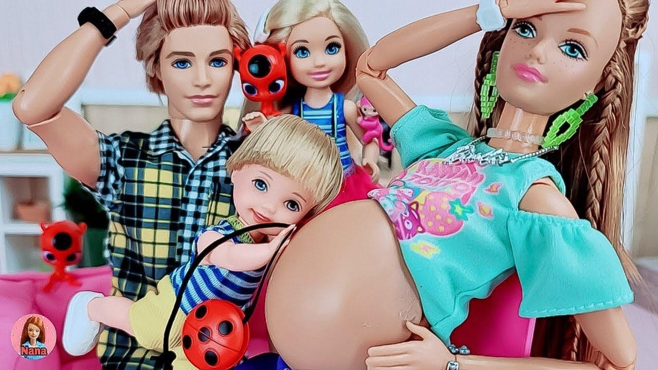 Barbie Ken Doll Family Morning Routine / Miraculous LadyBug / Stop playing yo-yo 바비인형 레이디버그 임신출산 병원