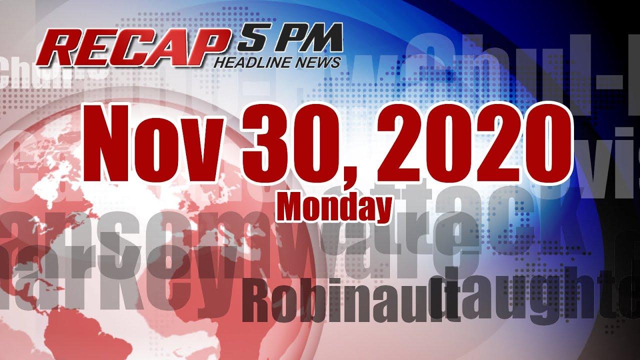 5PM RECAP Nov 30, 2020 - Former South Korean president sentenced to prison