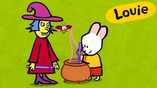 Cartoon for kids - Louie draw me a witch HD