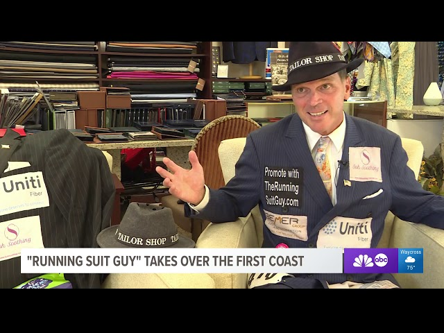 Running Suit Guy First Coast News Interview Jacksonville