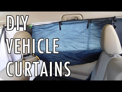 DIY Curtains for a Van, Car, SUV, etc.