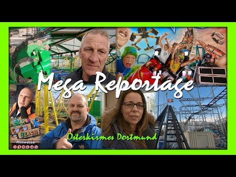 Mega Reportage - Osterkirmes Dortmund 2018 - Familienachterbahn Coco Beach - X-Racer Rollercoaster