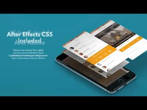 mobile app phone 6 presentation | after effects template - youtube, Presentation After Effects Template Free, Presentation templates