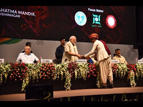 PM Modi inaugurates 'Textile India 2017' in Gandhinagar, Gujarat