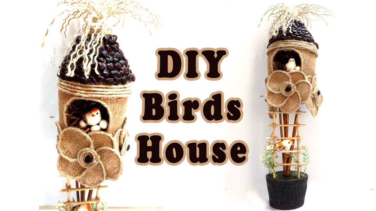 How To Make Birds Nest Craft Using Plastic Bottle