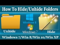 How To Hide and Unhide Folder in Windows 7/8/10/XP - Hindi