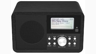 Denver IR-110 Internet Radio with DAB + Radio $amp;amp; FM, Wooden Cabinet
