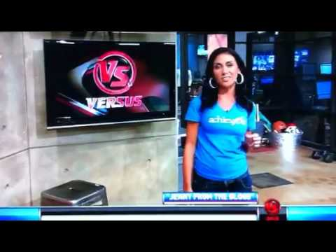 Jenn Sterger wearing her 46NYC tee on The Daily Line