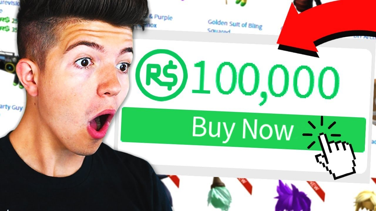 Buying 100 000 Robux In Roblox Youtube