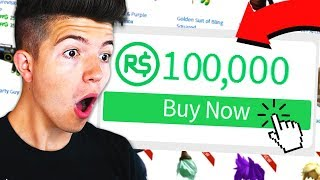 BUYING 100,000 ROBUX IN ROBLOX