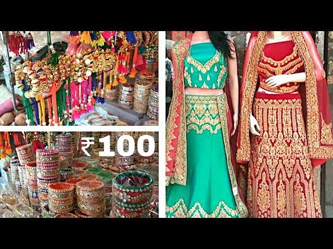 Bhuleshwar Market Mumbai /  Biggest retail and Wholesale market /  Lehengas / artificial jewellery