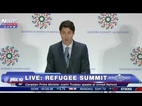 FNN: Candian Prime Minister Justin Trudeau Speaks at UN Refugee Summit
