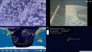 Passing By North American Coastlines - NASA/ESA ISS LIVE Space Station With Map - 491 - 2019-02-18
