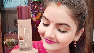 Blue heaven oil free foundation demo and review foundation under 75rs or 1 most AFFORDABLE RARA