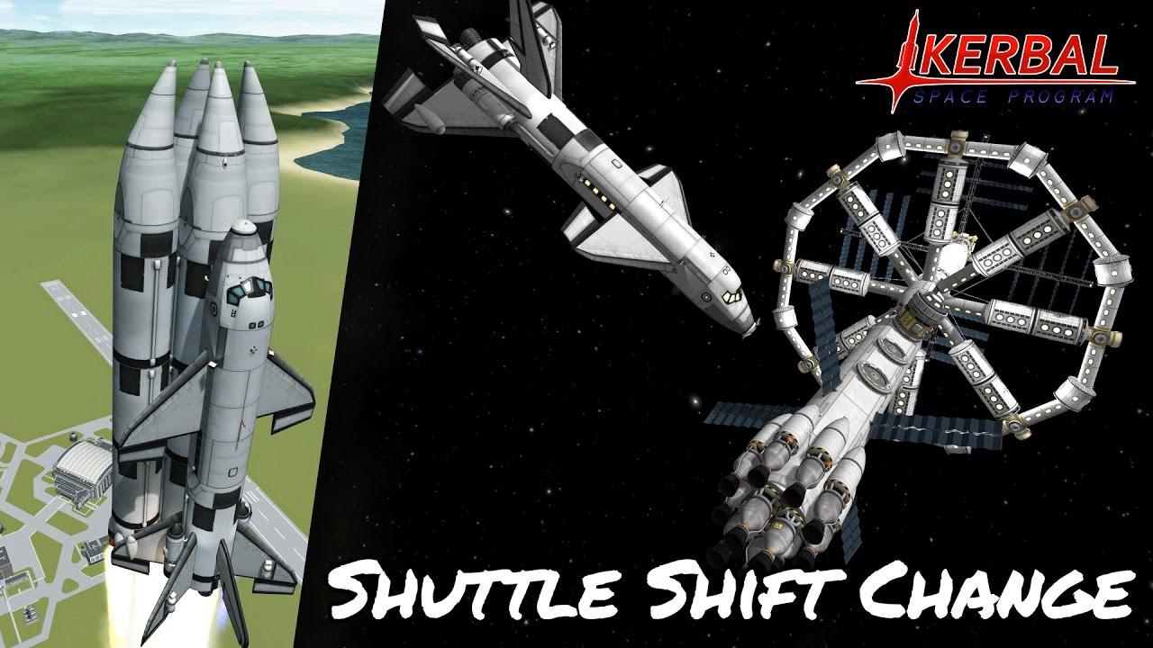KSP Space Station Shuttle Shift Change (Tutorial:34 ...