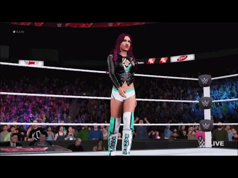 WWE 2K16: Sasha Banks CAW (Best Available) Entrance, Signature, and Finisher