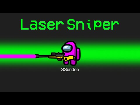 NEW LASER SNIPER Mod in Among Us - SSundee