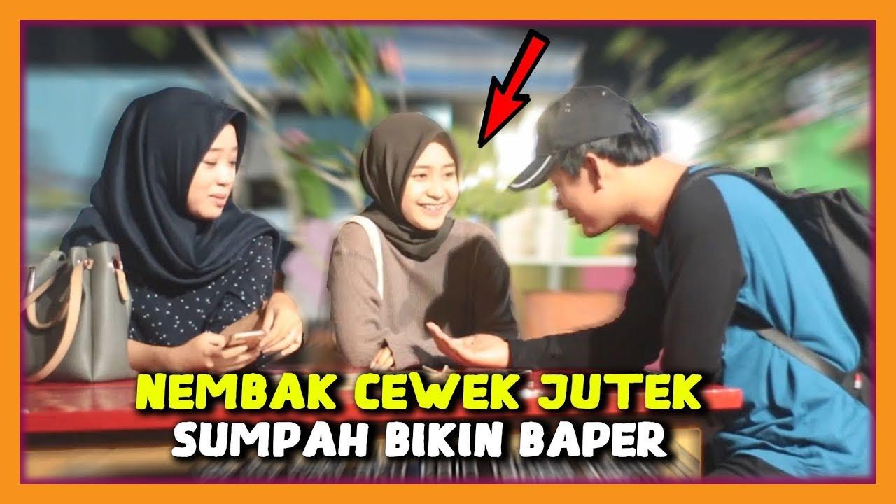 Gila !!! PRANK NEMBAK WANITA CANTIK SUPER JUTEK GAK DIKENAL - Prank Indonesia #1