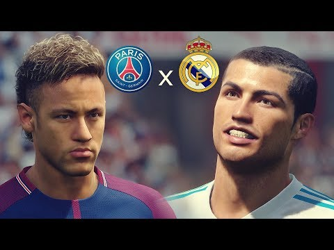 PES 2018 - Paris Saint Germain vs Real Madrid   UEFA Champions League