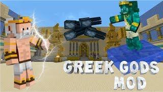 Minecraft: GREEK GODS MOD! - Zeus, Poseidon & Hades vs. Earthbender