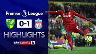 Sadio Mane scores late winner after sublime first-touch! | Norwich 0-1 Liverpool | EPL Highlights