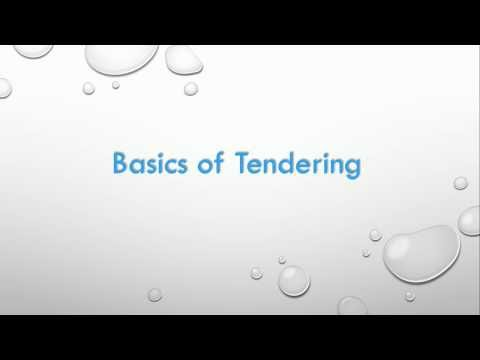 E tendering | E Procurement | What is a tender| Basics of Tendering | Tendering tutorials