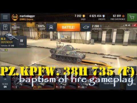 WoT Blitz | Pz.Kpfw. 38H 735 (f) | Baptism of Fire gameplay