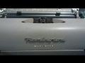 Remington QUIET-RITER Typewriter Overview
