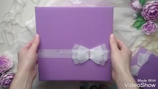 Свадебный комплект : фотоальбом+коробочка для денег.