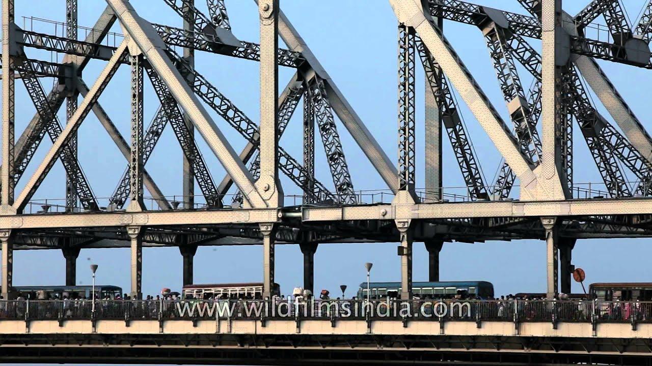 Rabindra Setu Or Howrah Bridge Kolkata Landmark Youtube